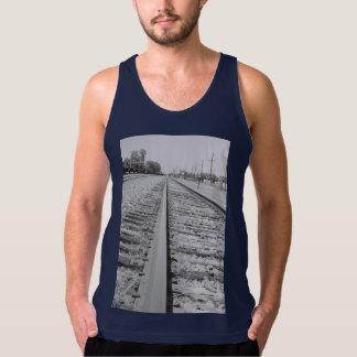 Camisa do músculo das trilhas de estrada de ferro regatas