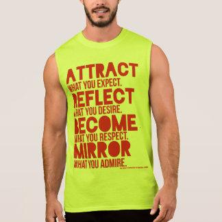 camisa do músculo dos homens vermelhos da atração