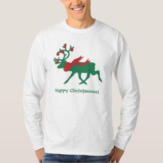 Camisa do Natal dos homens felizes de Christmoose