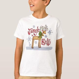 Camisa do Natal T de Bels de tinir para crianças