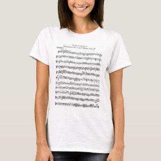 Camisa do no. 5 da sinfonia de Beethoven
