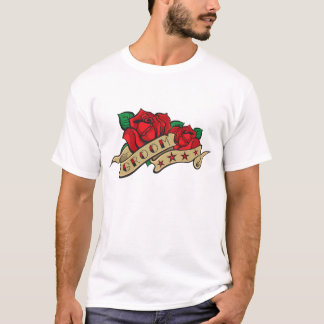 Camisa do noivo do rosa do tatuagem