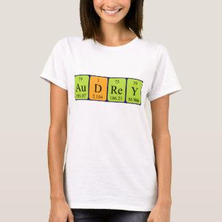 Camisa do nome da mesa periódica de Audrey