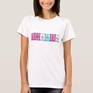 Camisa do nome da mesa periódica de Catherine
