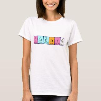 Camisa do nome da mesa periódica de Claudine