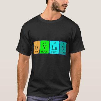 Camisa do nome da mesa periódica de Dylan