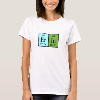 Camisa do nome da mesa periódica de Erin