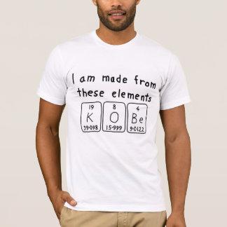 Camisa do nome da mesa periódica de Kobe