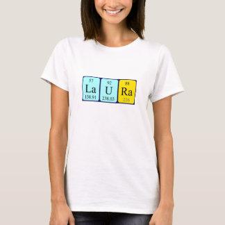Camisa do nome da mesa periódica de Laura