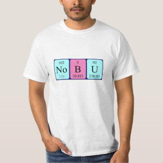Camisa do nome da mesa periódica de Nobu