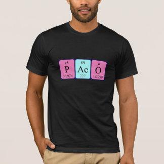 Camisa do nome da mesa periódica de Paco Camiseta