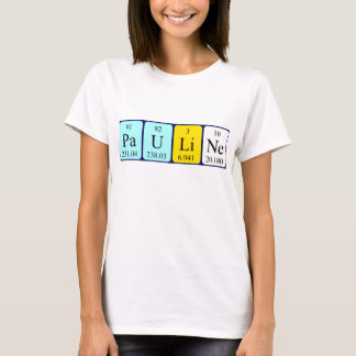 Camisa do nome da mesa periódica de Pauline