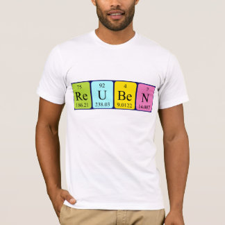 Camisa do nome da mesa periódica de Reuben