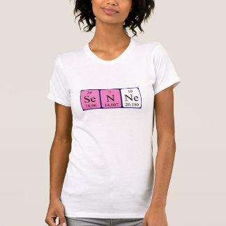 Camisa do nome da mesa periódica de Senne T-shirts