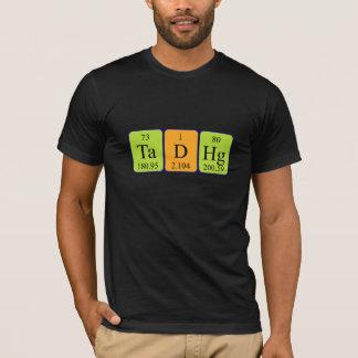 Camisa do nome da mesa periódica de Tadhg