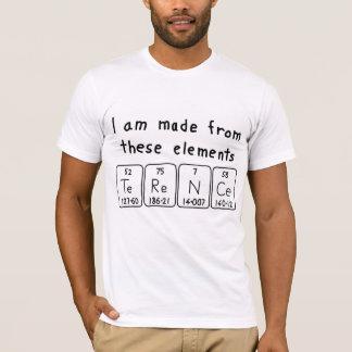 Camisa do nome da mesa periódica de Terence