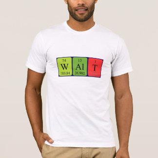 Camisa do nome da mesa periódica de Walt