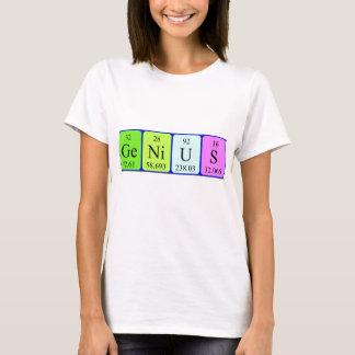 Camisa do nome da mesa periódica do gênio