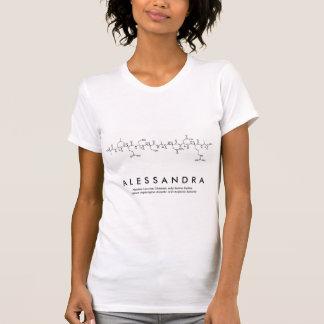 Camisa do nome do peptide de Alessandra