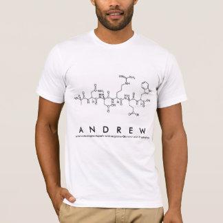 Camisa do nome do peptide de Andrew