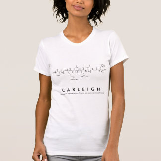 Camisa do nome do peptide de Carleigh