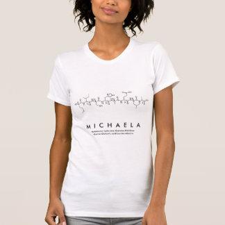 Camisa do nome do peptide de Michaela