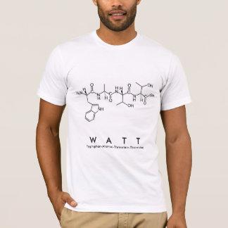 Camisa do nome do peptide do watt