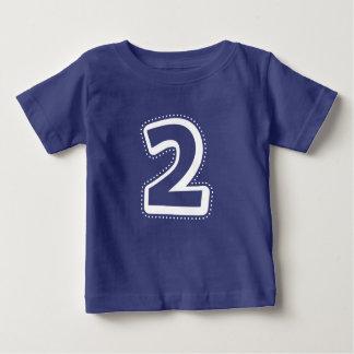 Camisa do número do segundo aniversário
