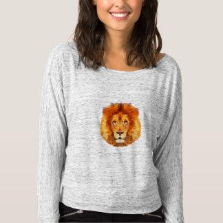 Camisa do ombro do leão das mulheres