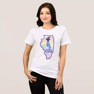 Camisa do ORGULHO de Illinois da ação das mulheres