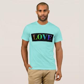 Camisa do orgulho gay do arco-íris LGBT do amor