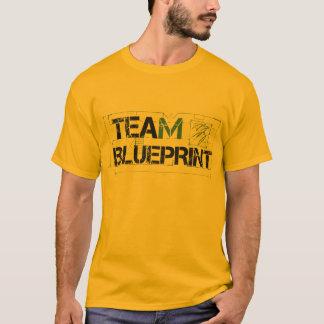 Camisa do ouro do modelo da equipe