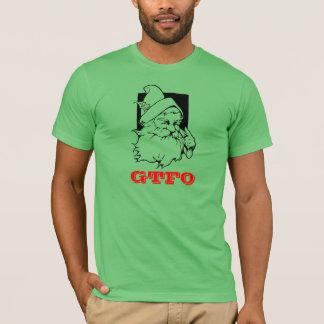 Camisa do papai noel GTFO do feriado