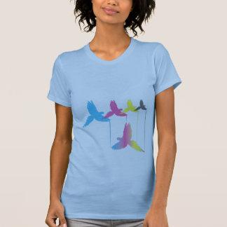 Camisa do pássaro de CMYK