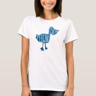 Camisa do pelicano do corte das mulheres