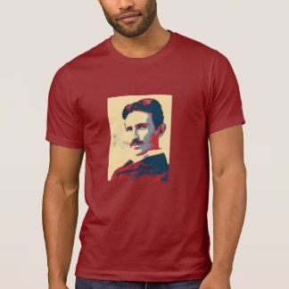 Camisa do pescoço de grupo de Nikola Tesla