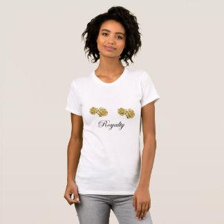 Camisa do pescoço de grupo t da flor do ouro das