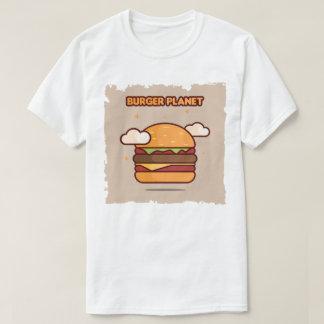 Camisa do planeta t do hamburguer