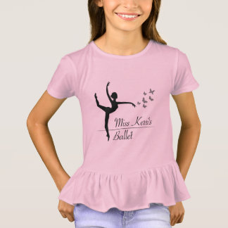 Camisa do plissado das meninas do programa do balé