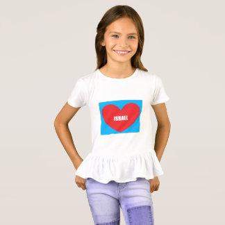 Camisa do plissado do coração do amor de Israel