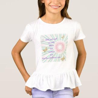 Camisa do plissado do poema das meninas