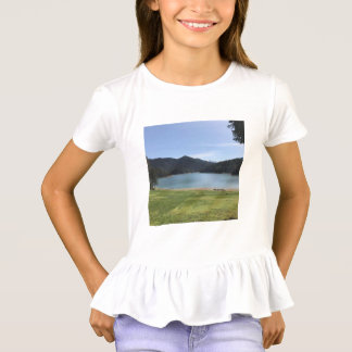 Camisa do plissado T da menina