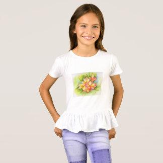 Camisa do plumeria das meninas de Malorie Arisumi