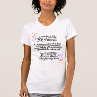 Camisa do poema da constelação