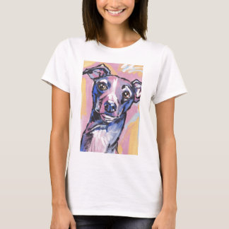 Camisa do pop art T do galgo italiano