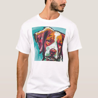 Camisa do pop art T do Spaniel de Brittany
