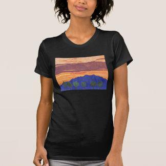 Camisa do por do sol de Baldy da montagem por Juli Camiseta