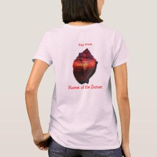 Camisa do por do sol do Conch de Key West