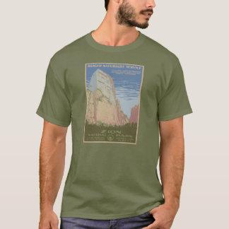 Camisa do poster vintage do parque nacional de