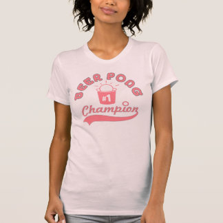 Camisa do prêmio do campeão de Pong da cerveja